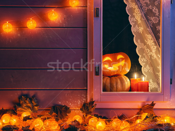 window decorated for the holiday Stock photo © choreograph