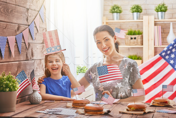 Stock photo: Patriotic holiday. Happy family