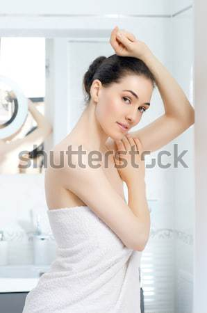 Para cima menina mulheres moda modelo Foto stock © choreograph