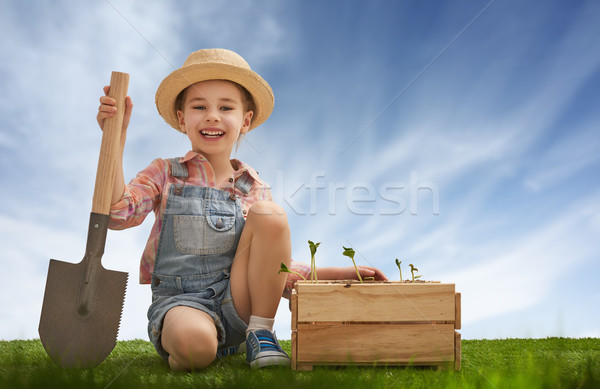 Fun little gardener Stock photo © choreograph