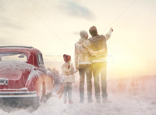 Foto d'archivio: Famiglia · stagione · invernale · avventura · famiglia · felice · rilassante