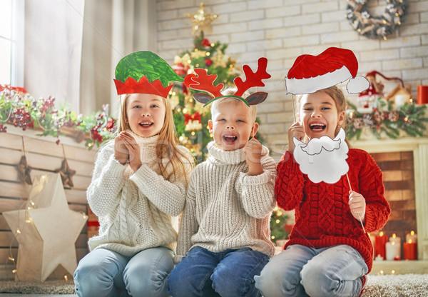 children at Christmas Stock photo © choreograph