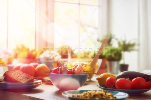 健康食品 ホーム バランスの取れた食事 料理 料理の 食品 ストックフォト © choreograph