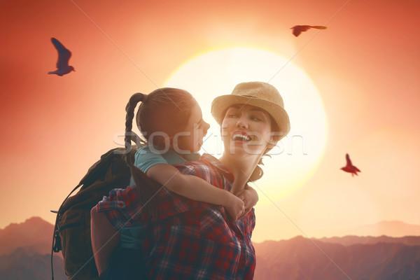 Mother and child enjoying journey. Stock photo © choreograph