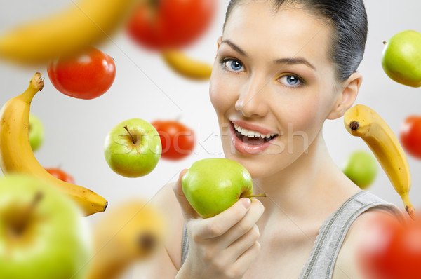 Photo stock: Fruits · belle · mince · fille · alimentaire