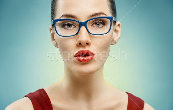 wearing glasses Stock photo © choreograph