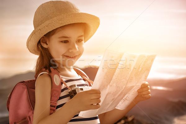 little girl travels Stock photo © choreograph