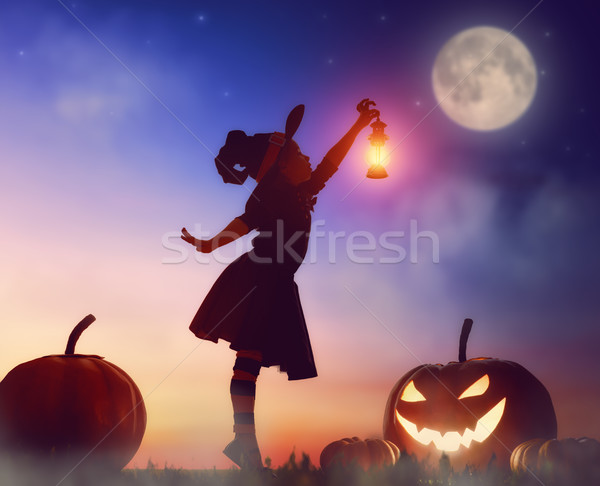 little witch outdoors Stock photo © choreograph