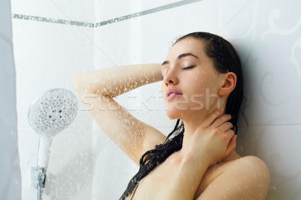 girl at the shower Stock photo © choreograph