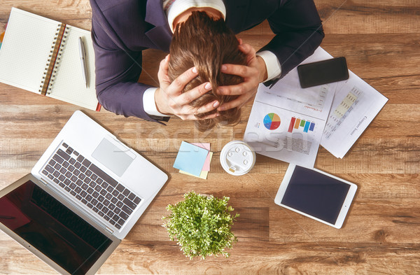 businessman in panic Stock photo © choreograph