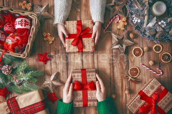 Christmas rodziny tradycje wesoły szczęśliwy wakacje Zdjęcia stock © choreograph