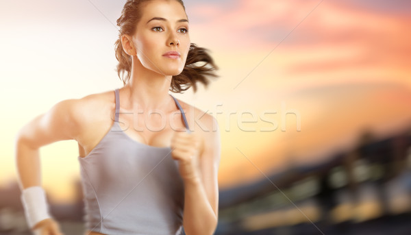 Stock photo: girl in sport