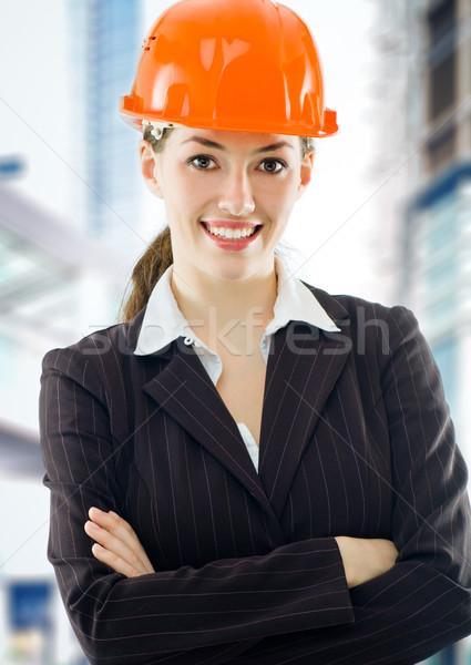 Architekt schönen jungen Bau Arbeit Stock foto © choreograph