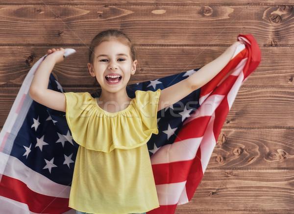 Stock photo: Patriotic holiday and happy kid