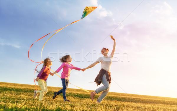 family playing outdoor Stock photo © choreograph