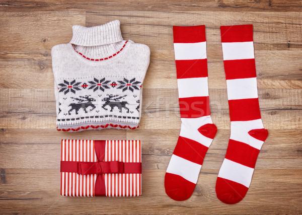 Christmas flat lay Stock photo © choreograph