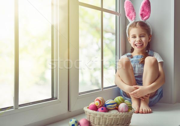 Сток-фото: девушки · Bunny · ушки · Христос · воскрес · Cute