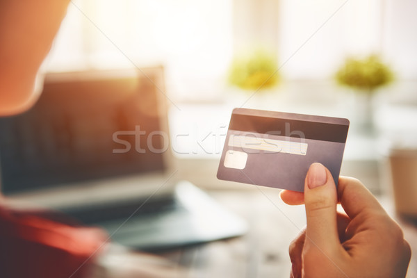 Online shopping concept. Stock photo © choreograph