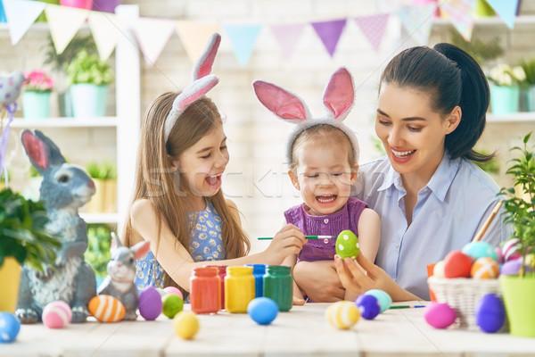 家族 イースター 幸せ 休日 母親 絵画 ストックフォト © choreograph