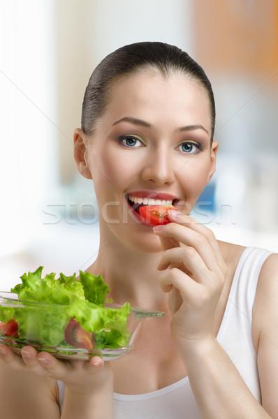 Mangiare sano alimentare bella snello ragazza donna Foto d'archivio © choreograph