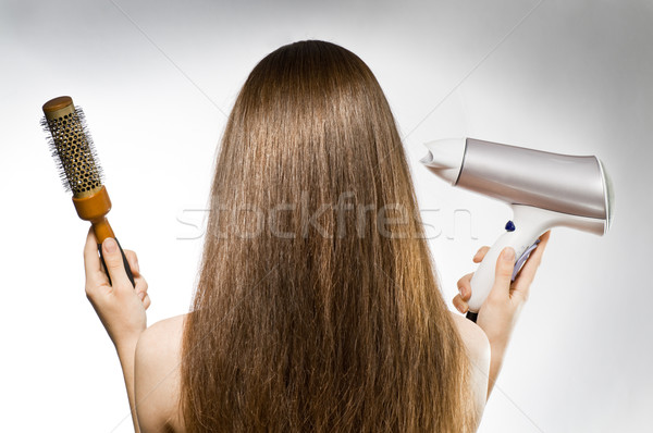 Stock photo: long brown hair