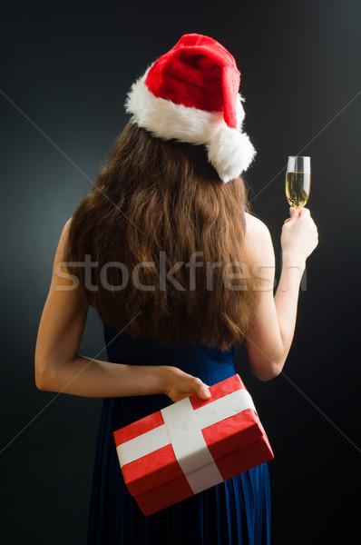 Stockfoto: Christmas · presenteert · jong · meisje · aanwezig · handen · model