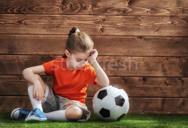 Girl plays football Stock photo © choreograph