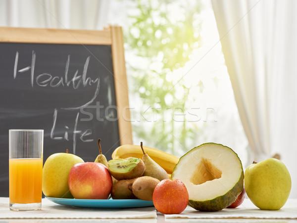 新鮮果物 表 健康 背景 ウィンドウ 夏 ストックフォト © choreograph