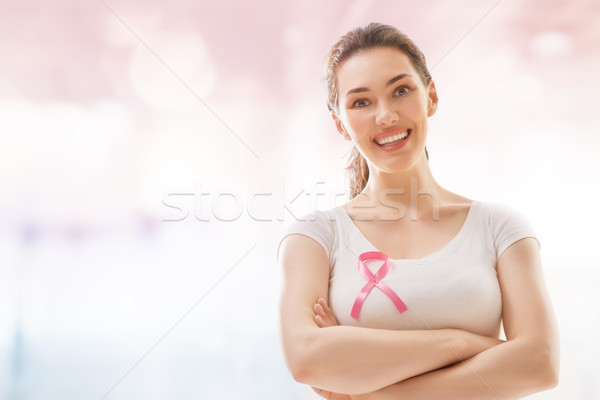 Câncer de mama consciência apoiar pessoas vida Foto stock © choreograph