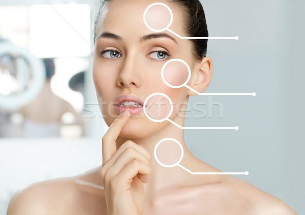 Saudável cara beleza mulher banheiro corpo Foto stock © choreograph
