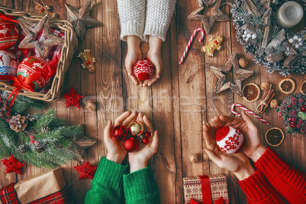 Stock photo: Christmas family traditions