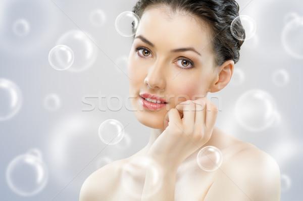 Piękna portret piękna zdrowych dziewczyna kobieta Zdjęcia stock © choreograph
