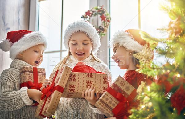 Stok fotoğraf: çocuklar · Noel · neşeli · mutlu · tatil