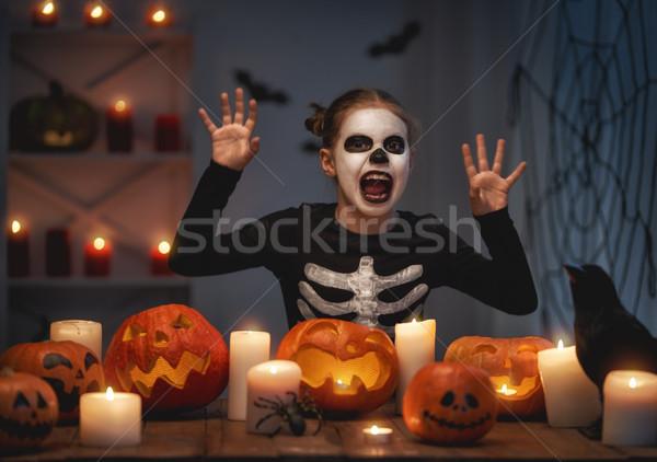 çocuk halloween mutlu sevimli küçük gülme Stok fotoğraf © choreograph