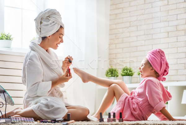 母親 娘 ペディキュア 幸せ 愛する 家族 ストックフォト © choreograph