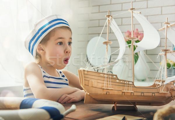 Dreams of sea, adventures and travel Stock photo © choreograph