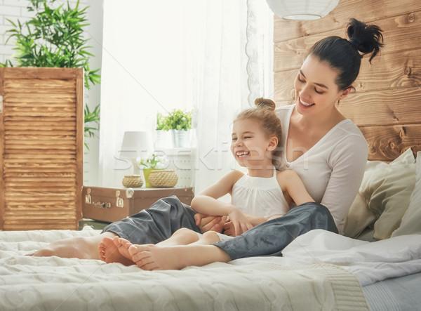 счастливым любящий семьи матери дочь ребенка Сток-фото © choreograph