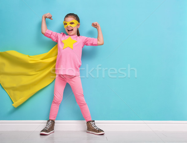 child plays superhero Stock photo © choreograph