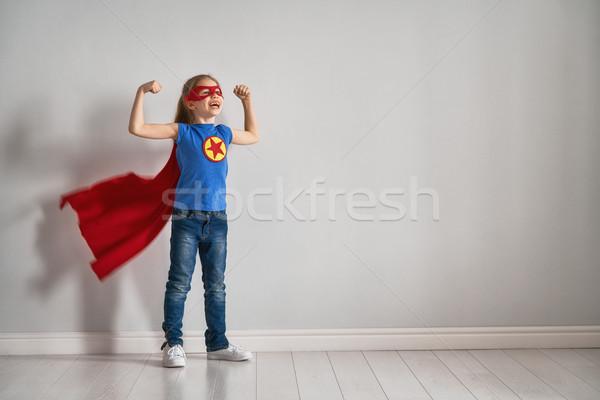Dziecko gry superhero mały dziecko jasne Zdjęcia stock © choreograph