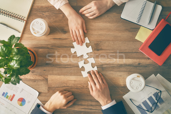 Concept of business strategy. Stock photo © choreograph