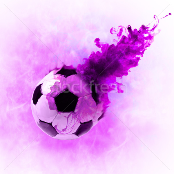Encre symbole balle blanche football sport Photo stock © choreograph