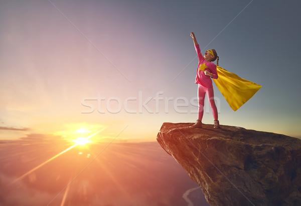Stock photo: child is playing superhero