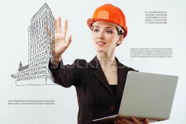 Innovatív technológiák sikeres személy készít nők Stock fotó © choreograph