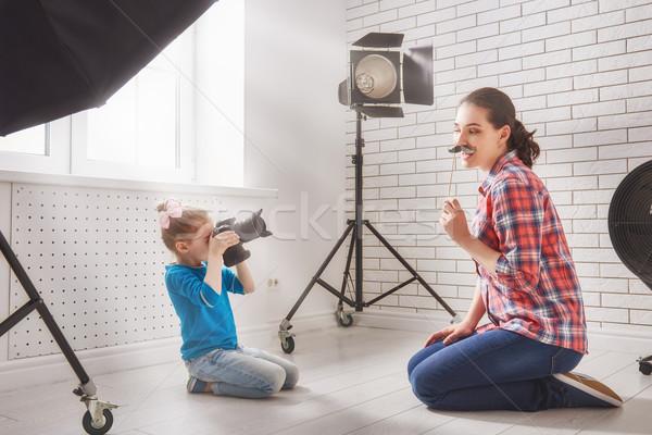 Photographer in motion.  Stock photo © choreograph