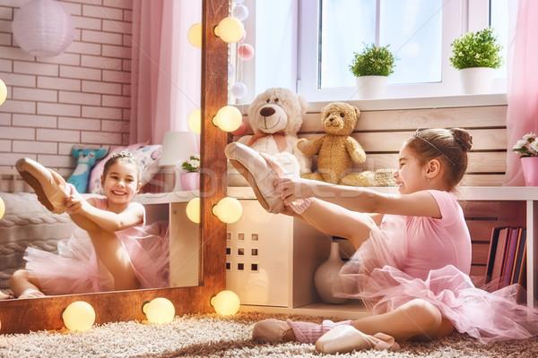 Stock photo: girl dreams of becoming a ballerina