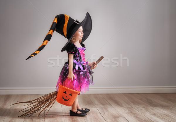 Bambino halloween felice cute piccolo ridere Foto d'archivio © choreograph