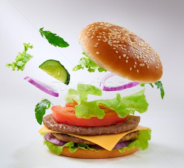 ハンバーガー おいしい 食品 チーズ ディナー ストックフォト © choreograph