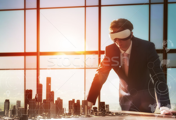 businessman developing a project Stock photo © choreograph