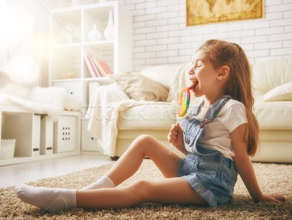 funny child girl Stock photo © choreograph
