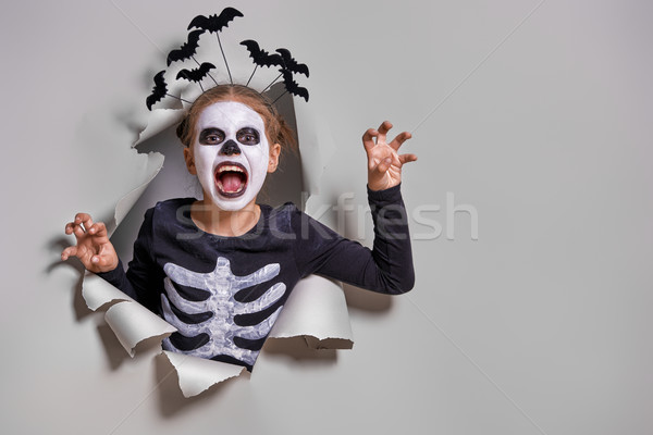 Stock photo: child on Halloween